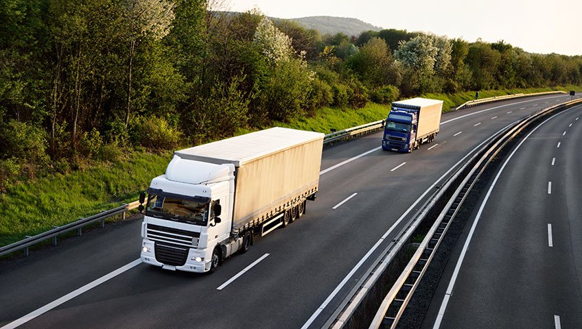 LKW Spedition Textiltransport